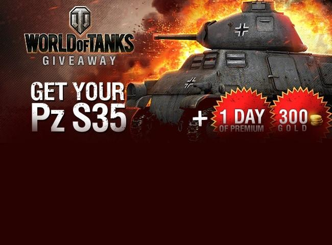 WoT PZ tank + one day of premium + 300 gold Promo Codes